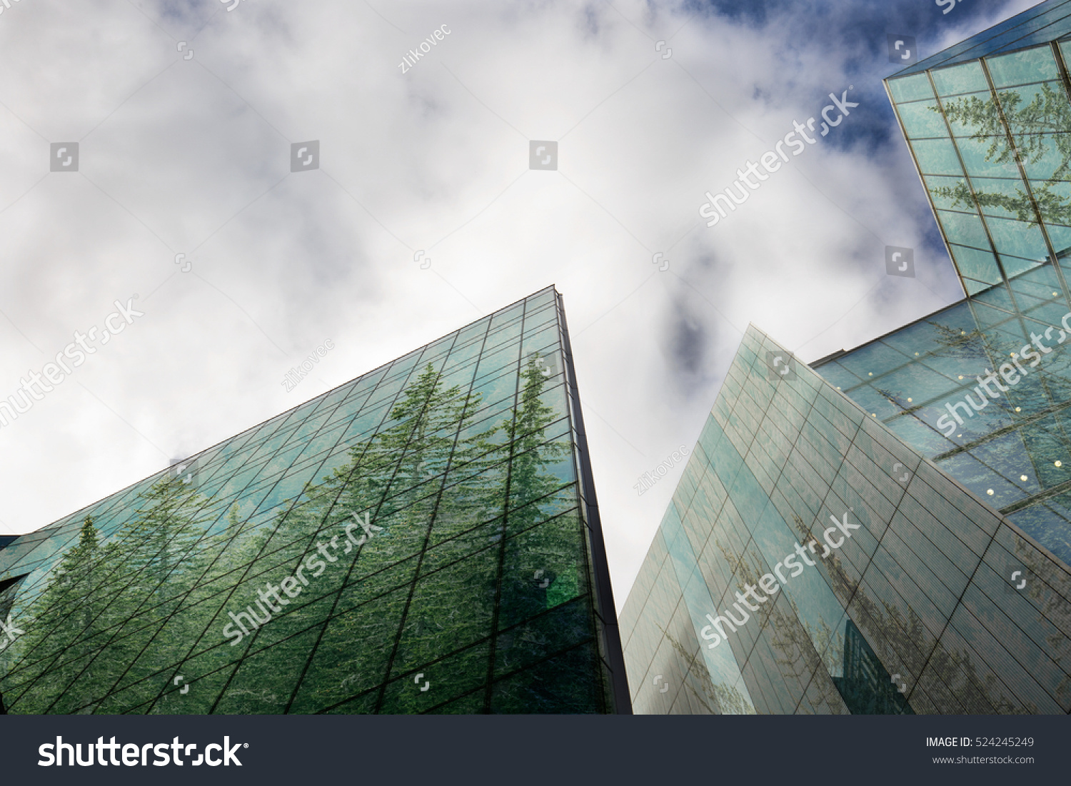Sustainable Green Energy City Urban Ecology Stock Photo