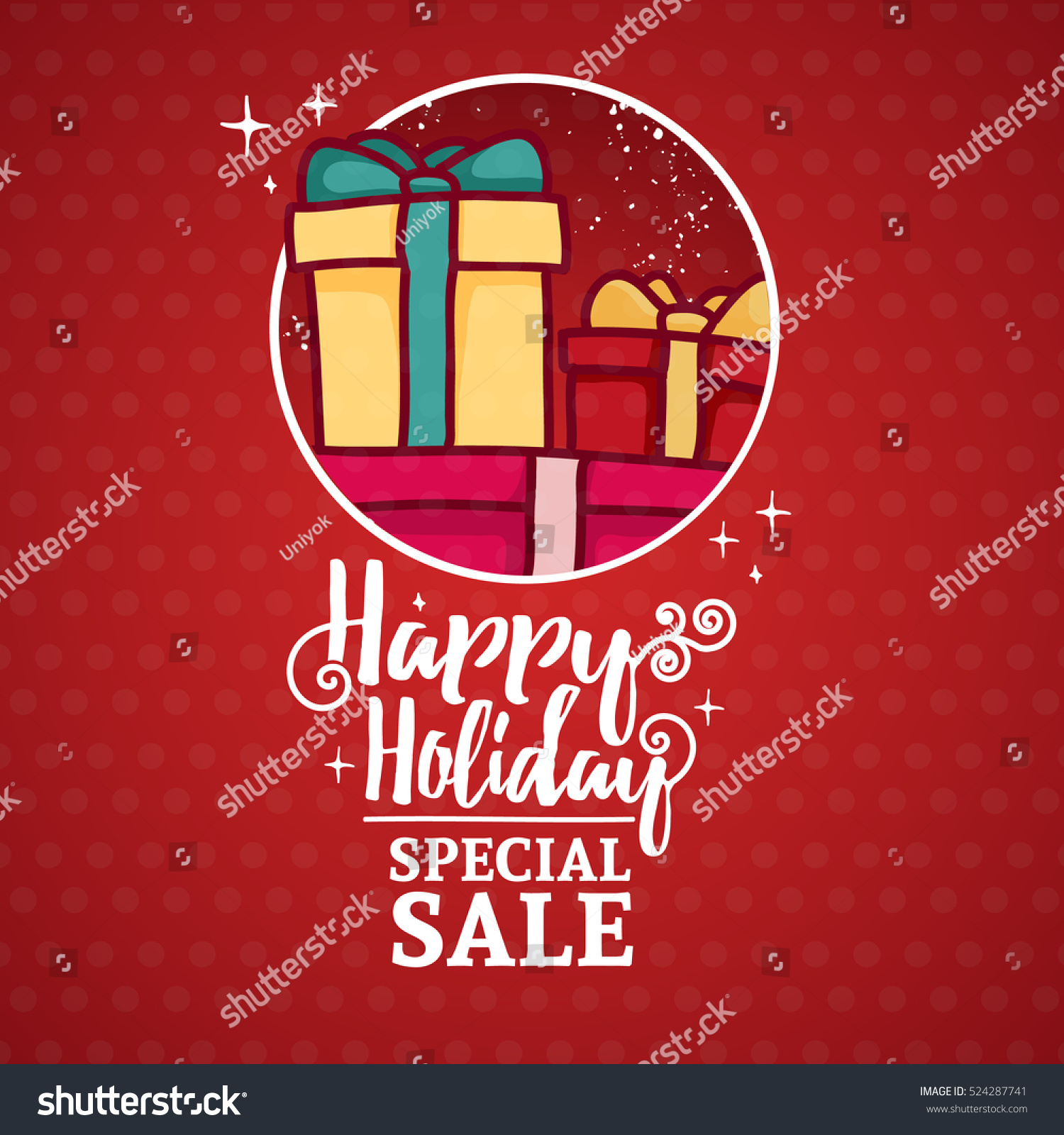Template Design Banner Christmas Sale Frame Stock Vector (Royalty ...