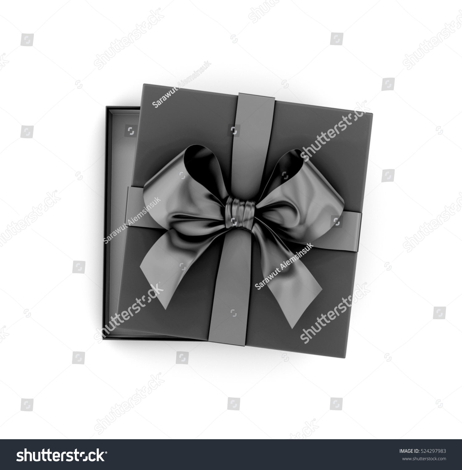 Christmas New Years Day Black Gift Stock Illustration 524297983 ...