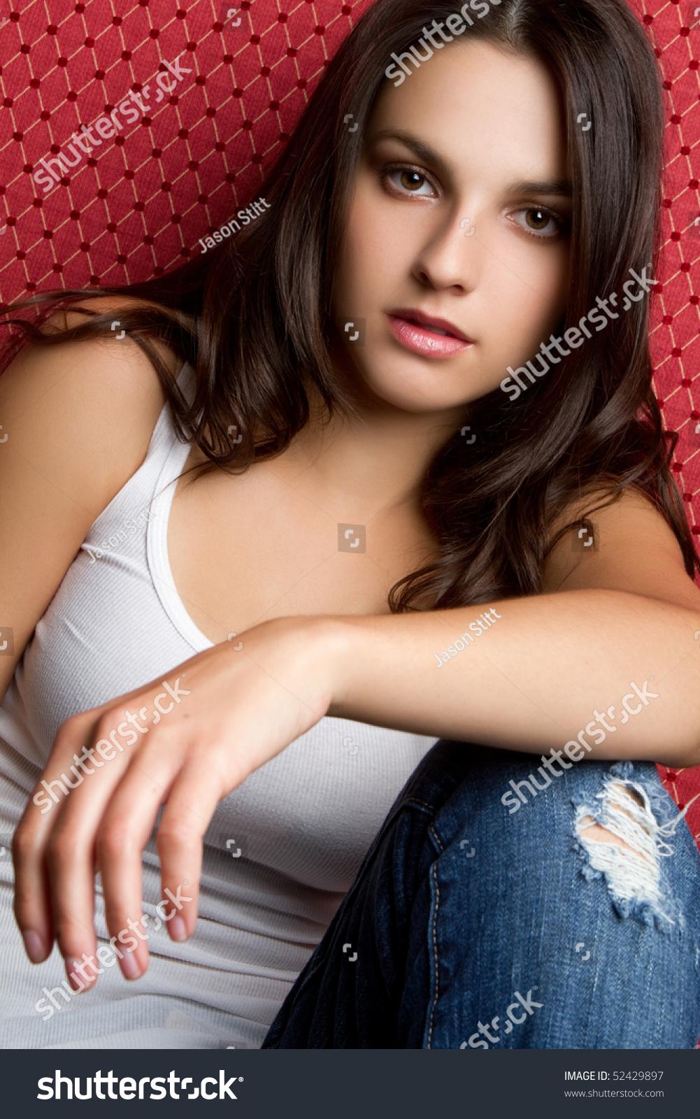 Pretty Teen Girl Stock Photo 52429897