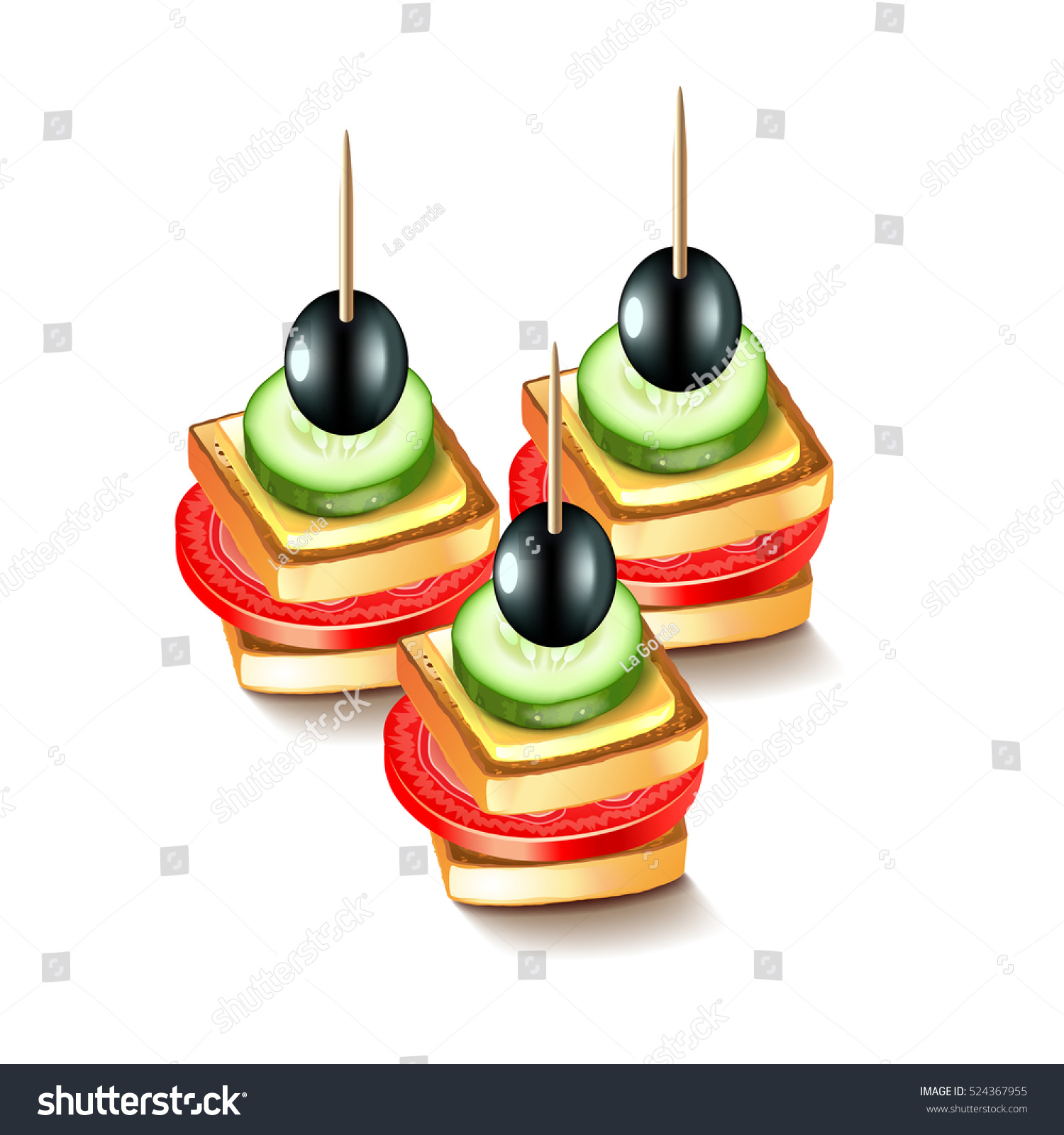 Canapes olives isolated on white vector stock vector for Vector canape download