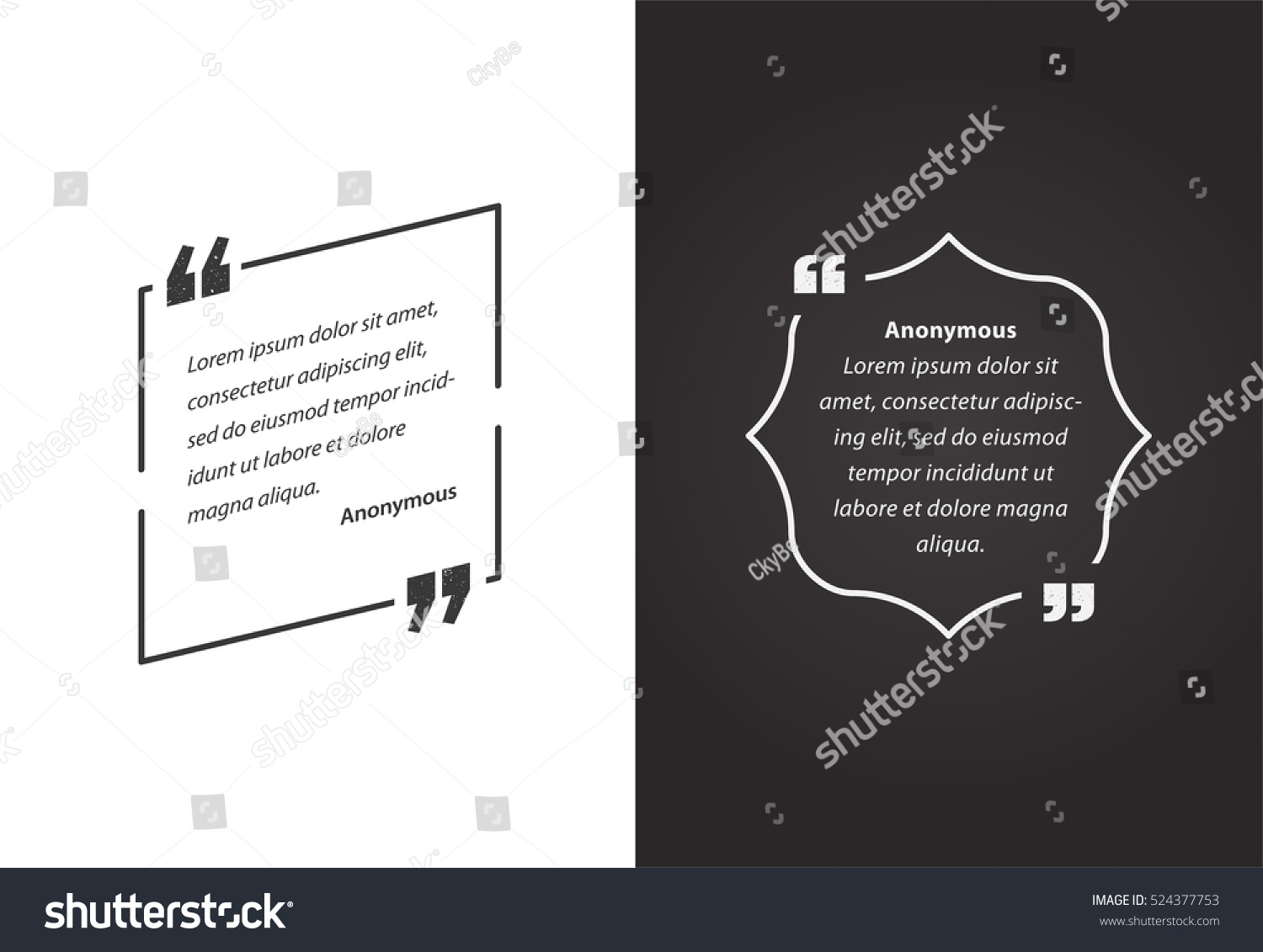 Remark Quote Template Bubble Template Vector Stock Vector 524377753 ...