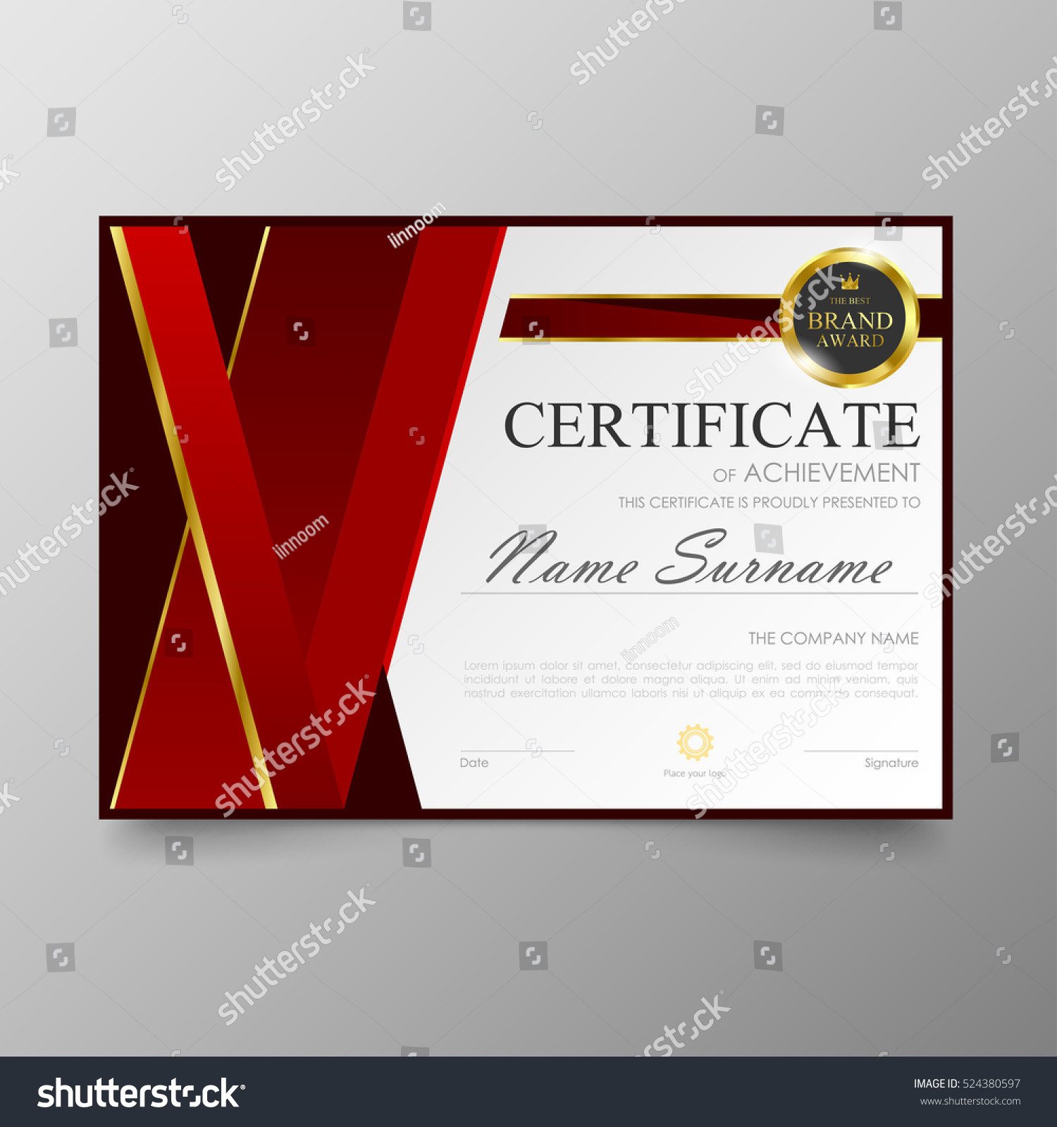 Certificate template awards diploma background vector stock vector certificate template awards diploma background vector stock vector 524380597 shutterstock yelopaper Image collections