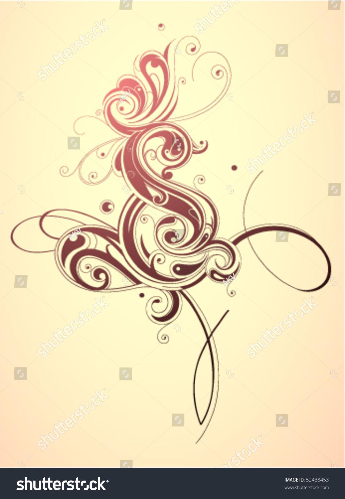 Artistic Calligraphy Swirls Stock Vector Illustration