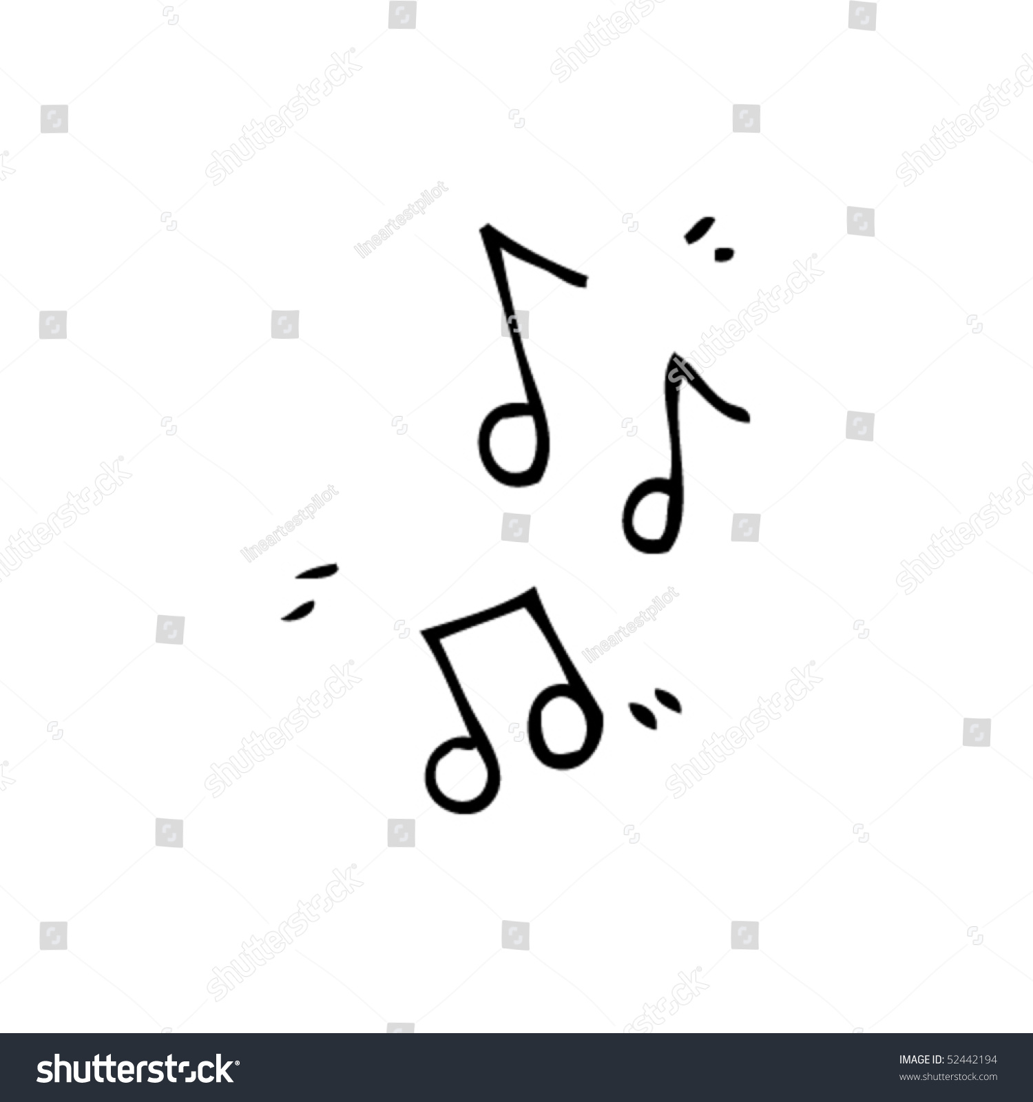quirky drawing music notes stock vector 52442194 shutterstock
