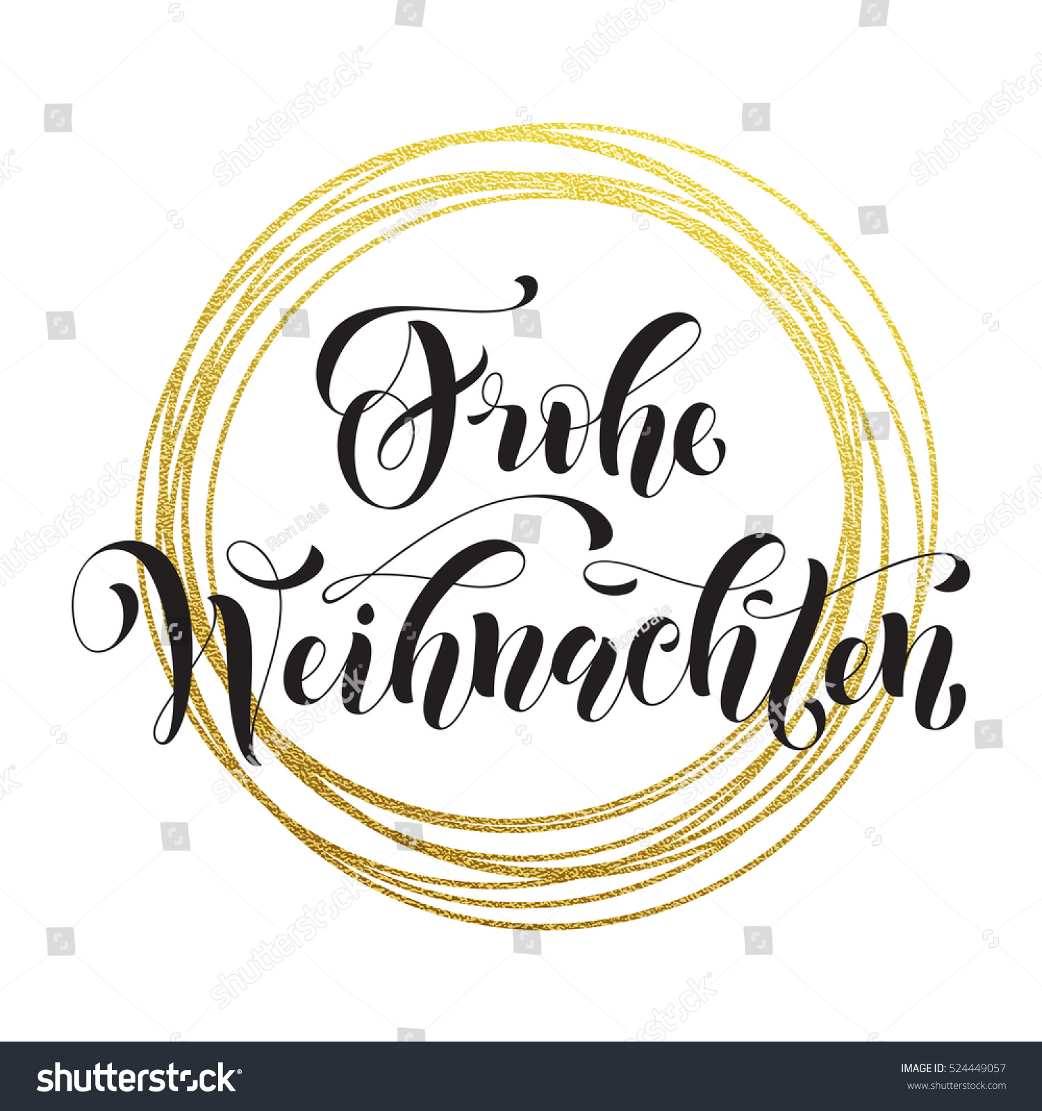 german merry christmas frohe weihnachten gold stock vector. Black Bedroom Furniture Sets. Home Design Ideas