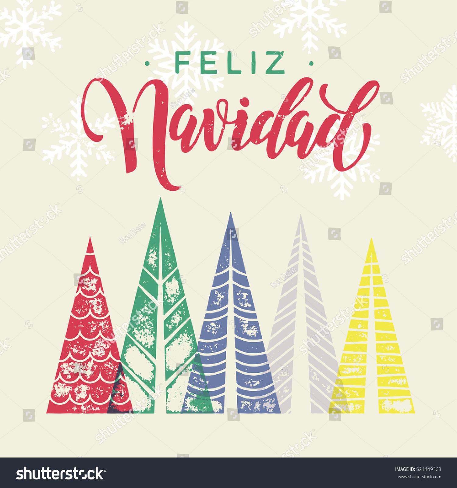 Spanish Winter Holidays Greeting Card Text Stock Photo Photo
