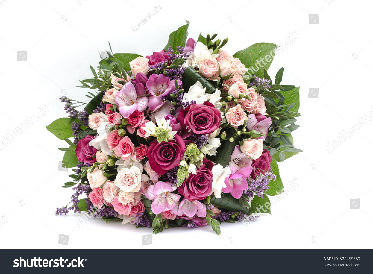 Wedding Bouquet Made Of Red And Pink Roses Ez Canvas