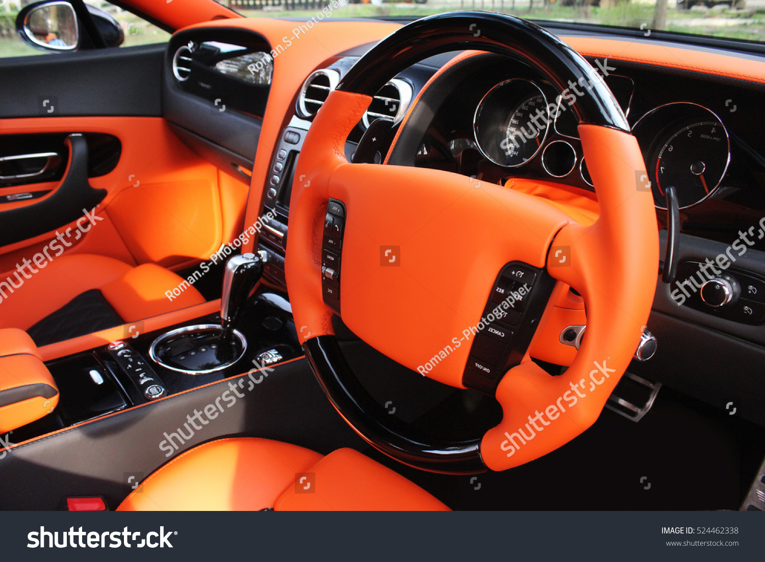 View Interior Modern Automobile Showing Dashboard Stock Photo ...
