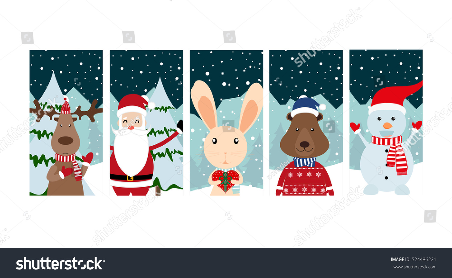 Christmas Gift Tags Labels Template Greeting Stock Vector 524486221 ...