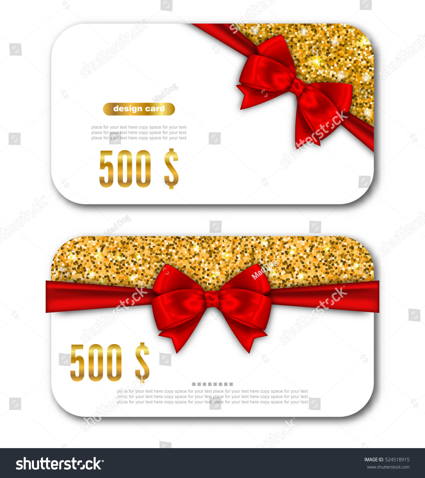 illustration gift card template golden dust stock vector  illustration gift card template golden dust texture and black bow ribbon design for gift