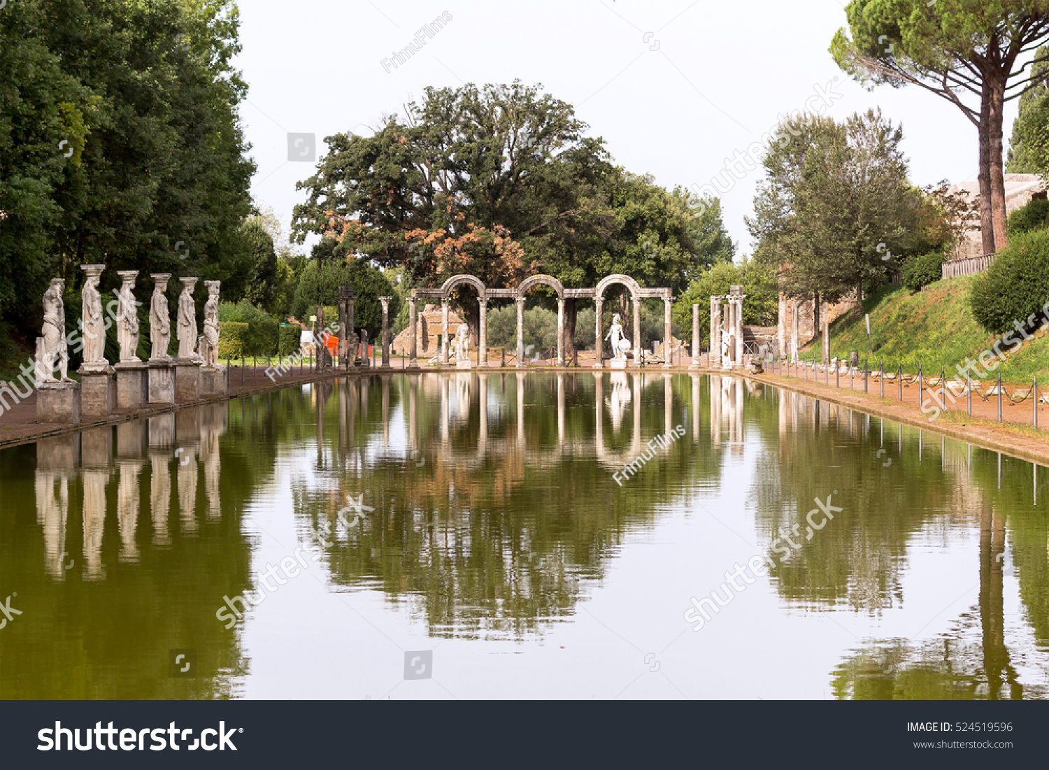 Statue Reflection Hadrian Villa Adriana Large Stock Photo (Royalty ...