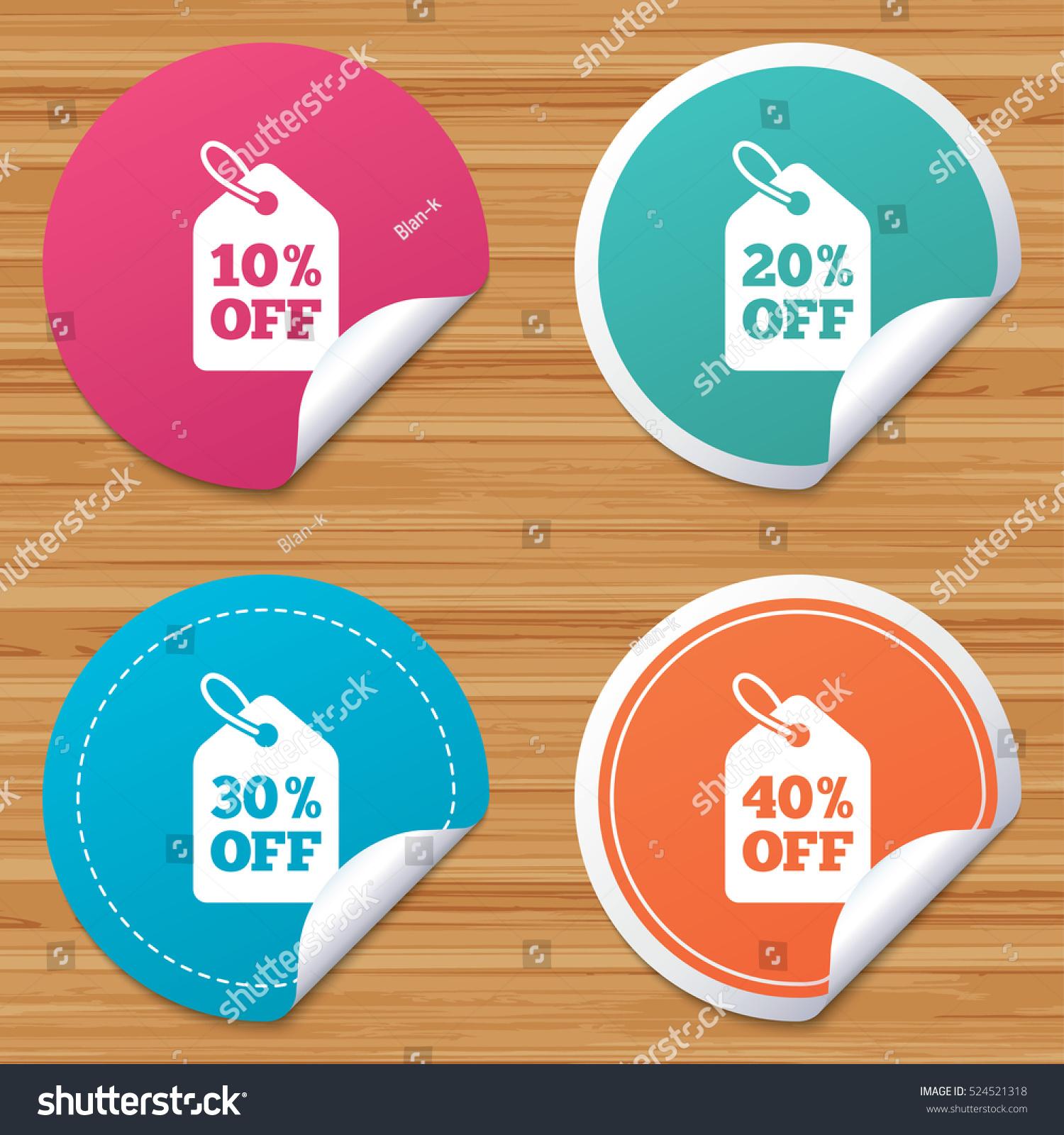 round stickers website banners sale price のベクター画像素材