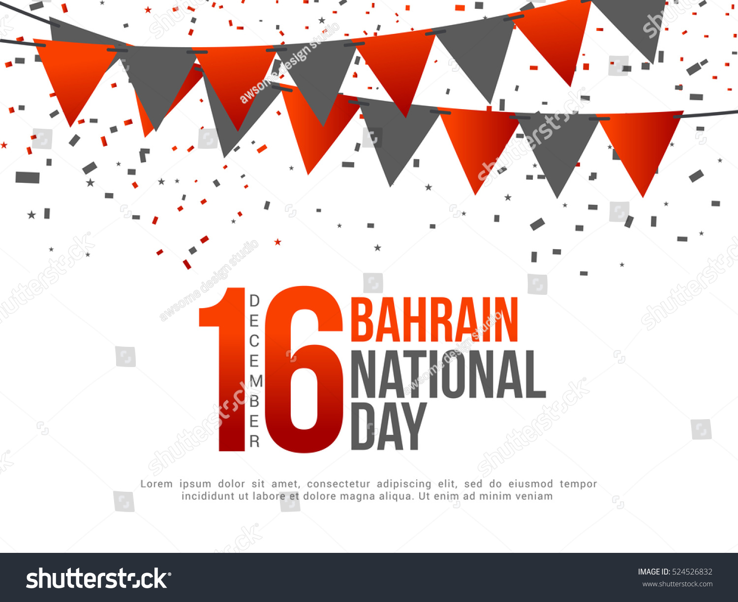 Bahrain National Day Background National Day Poster Stock Vector