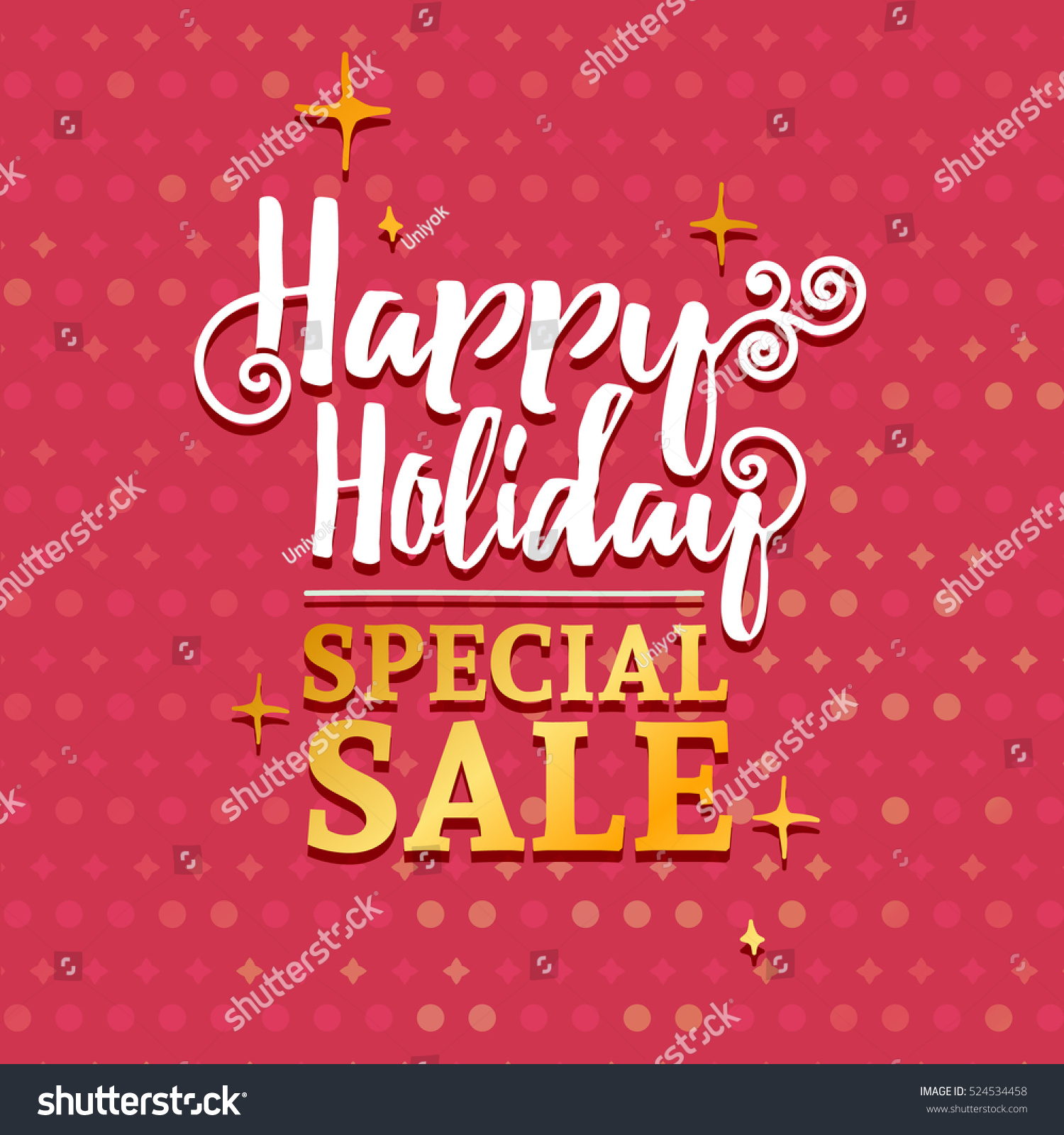 Template Design Banner For Christmas Sales Happy Holidays Special
