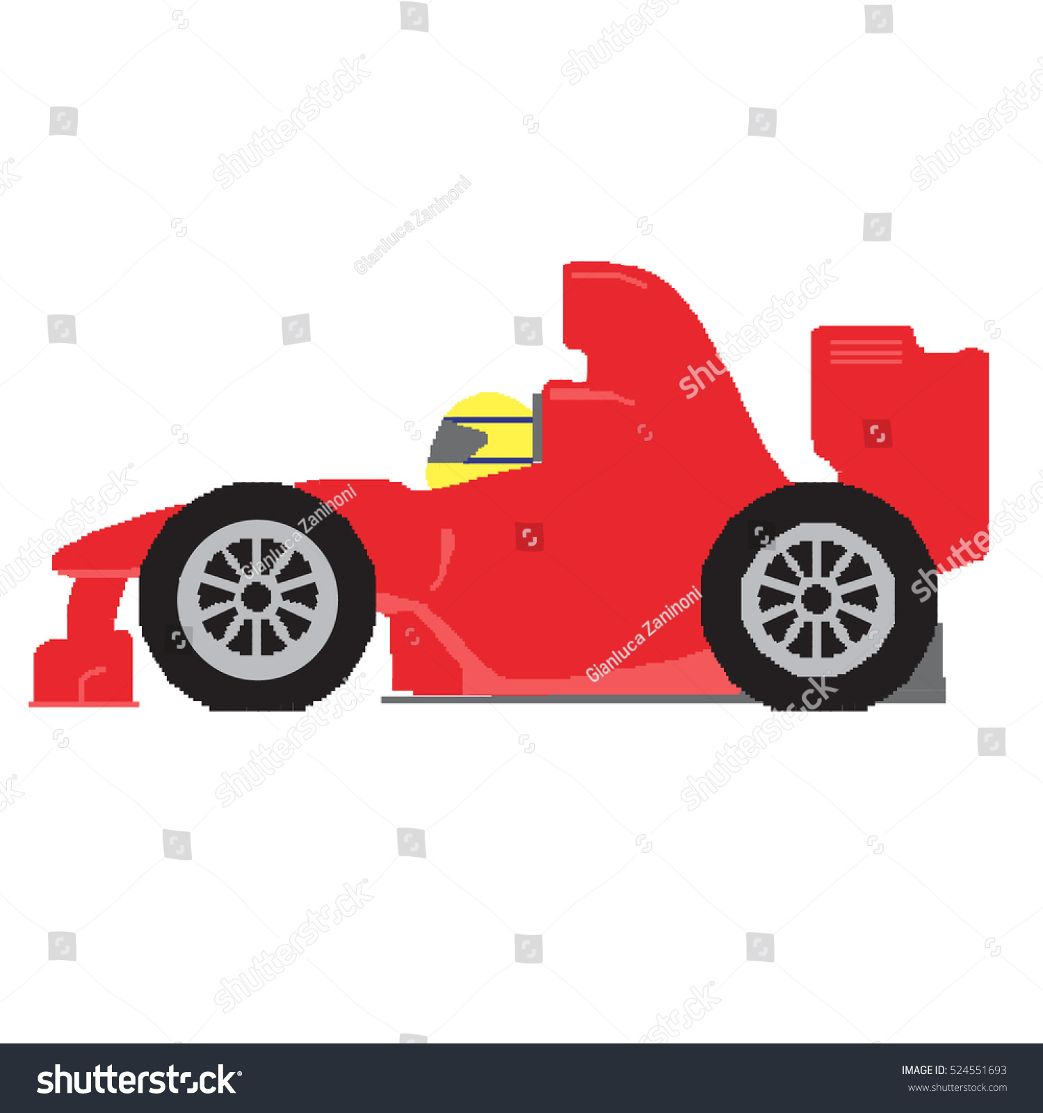 Isolation Full Roblox Id Formula 1 Sport Car Pixel Art Stock Vector Royalty Free 524551693