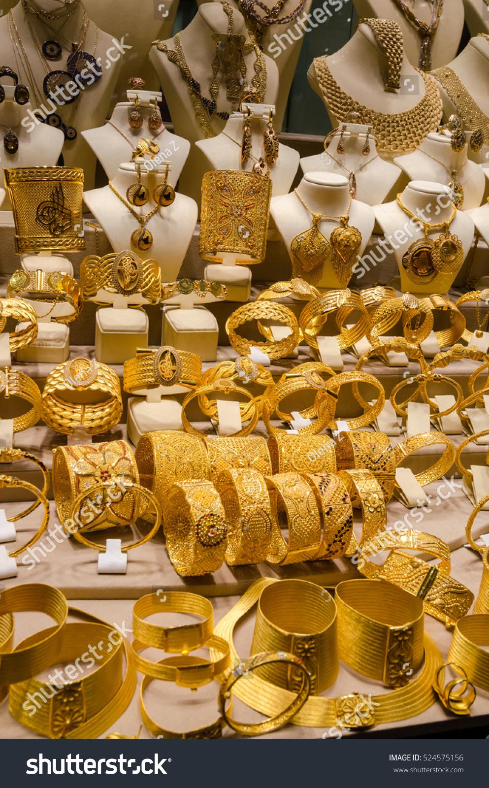 Gold Jewelry Egyptian Bazaar Grand Bazaar Stock Photo (Edit Now