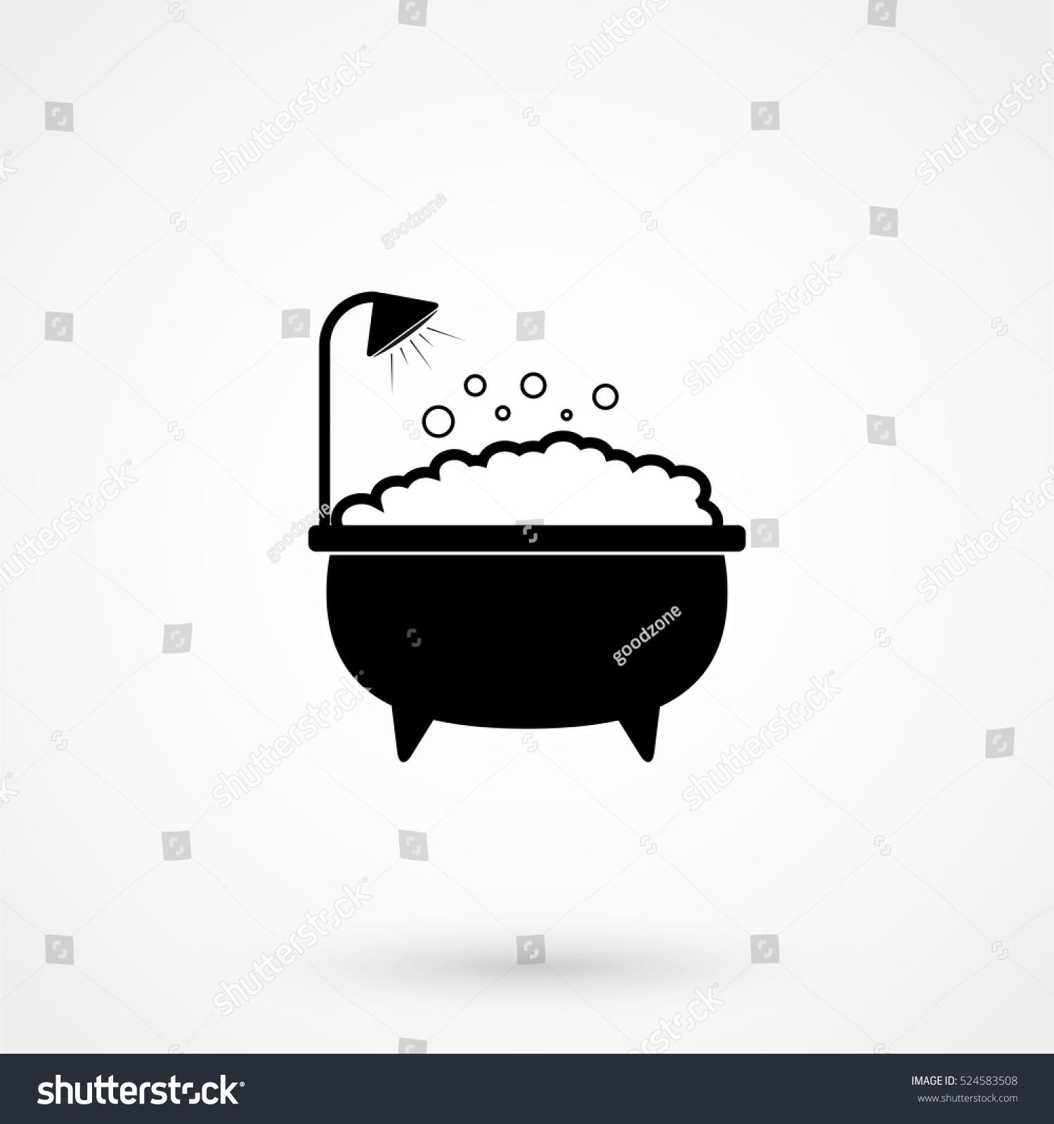 Mobile Bathrooms Concept Bathroom Icon Bath Shower Sign Isolated Stock Vector 524583508 .