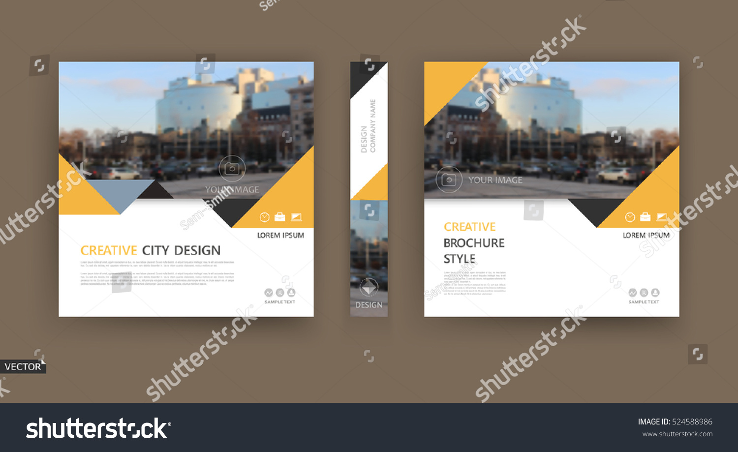 Abstract composition white brochure cover design stock for Typography brochure design
