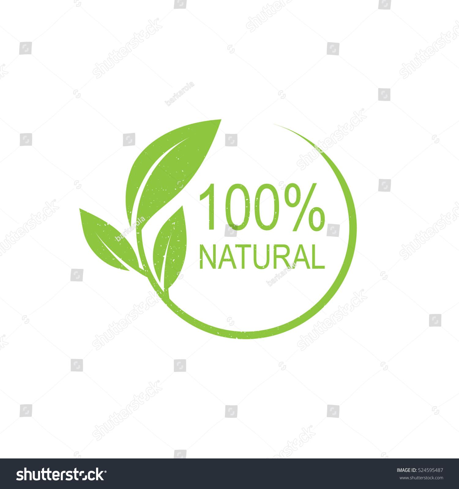100 Natural Vector Logo Design Stock Vector 524595487