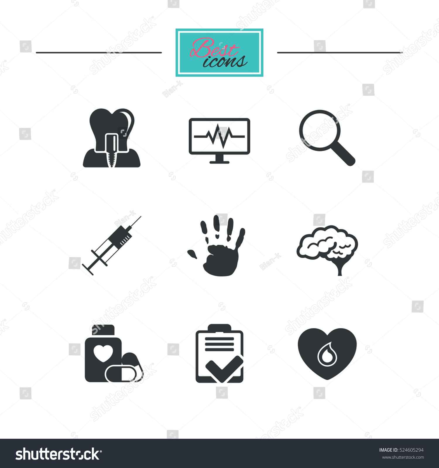 Medicine medical health diagnosis icons blood stock vector medicine medical health and diagnosis icons blood syringe injection and neurology signs biocorpaavc