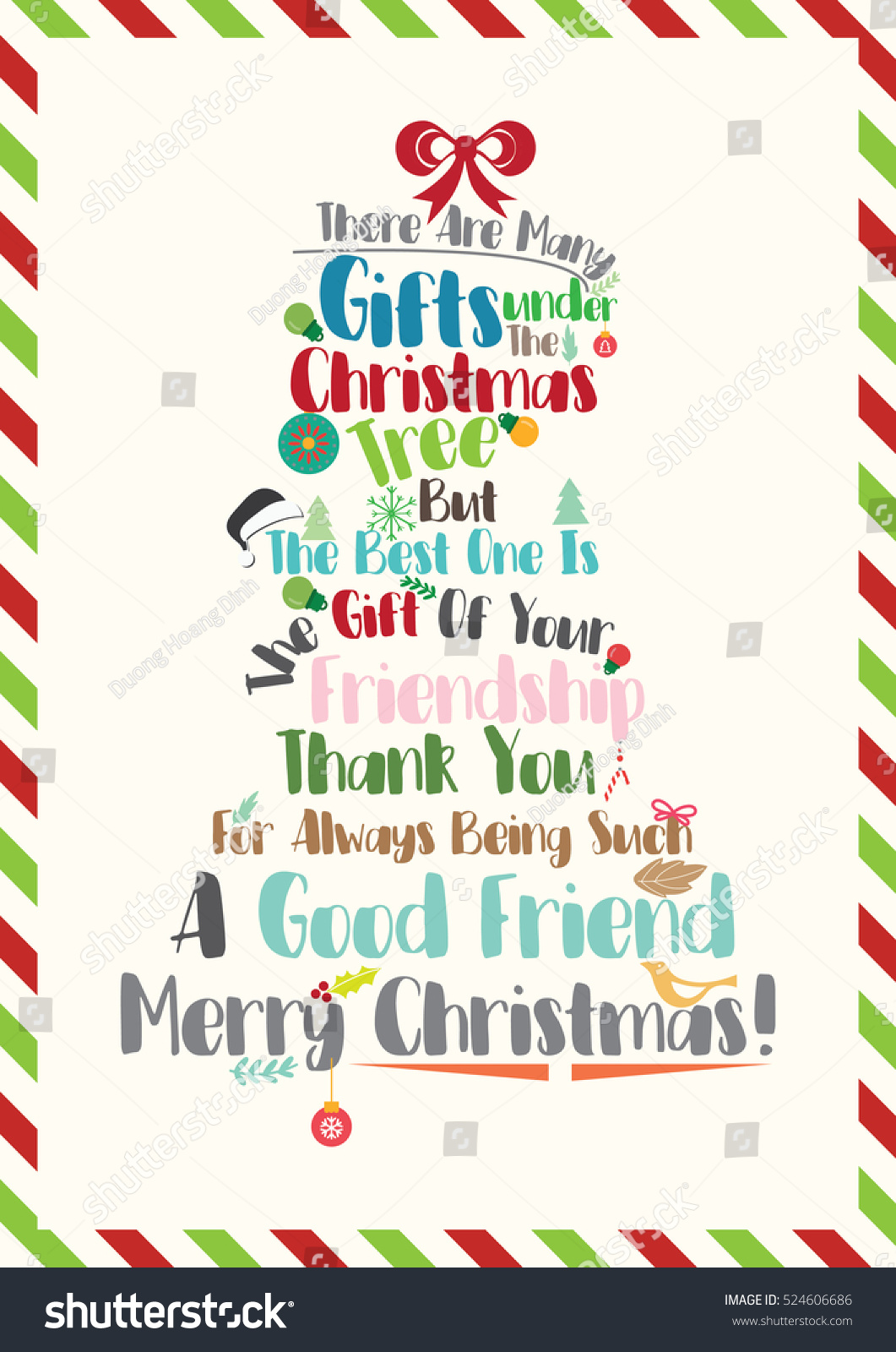 Christmas Quote Christmas Card Template Sending Stock Vector