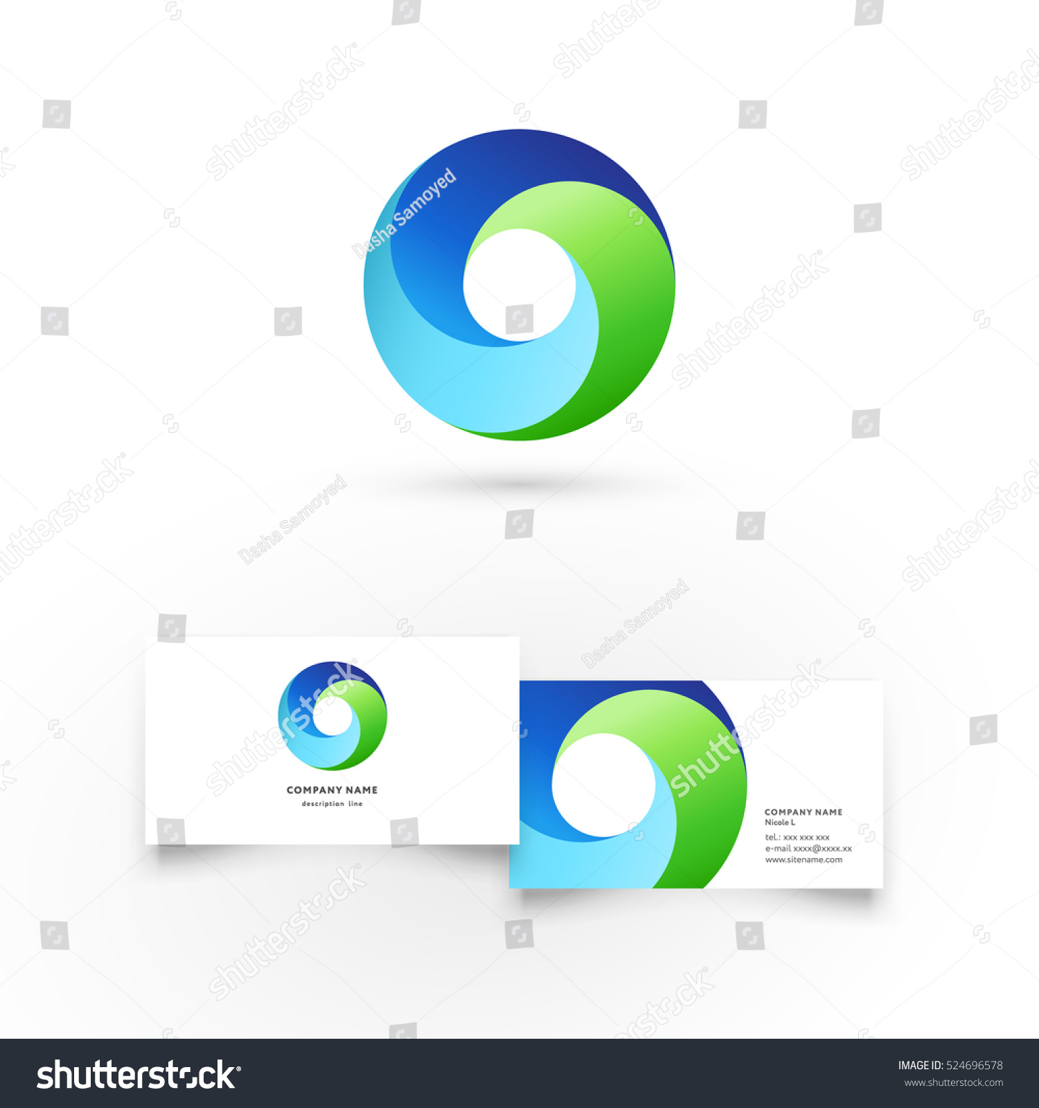 Modern Icon Design Logo Element Business Stock-Vektorgrafik ...