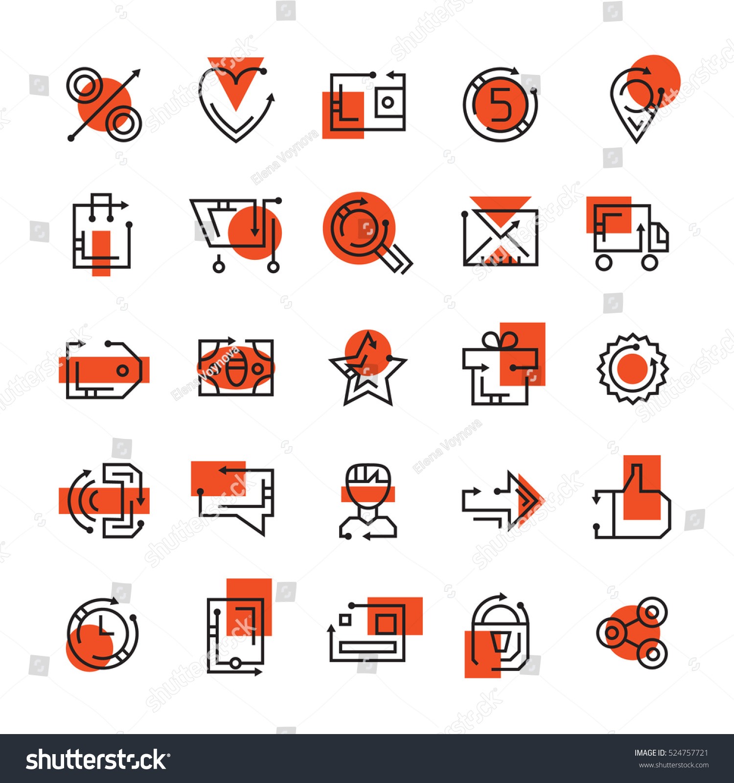 Online store icons set icons ecommerce stock vector for How to design online shopping website