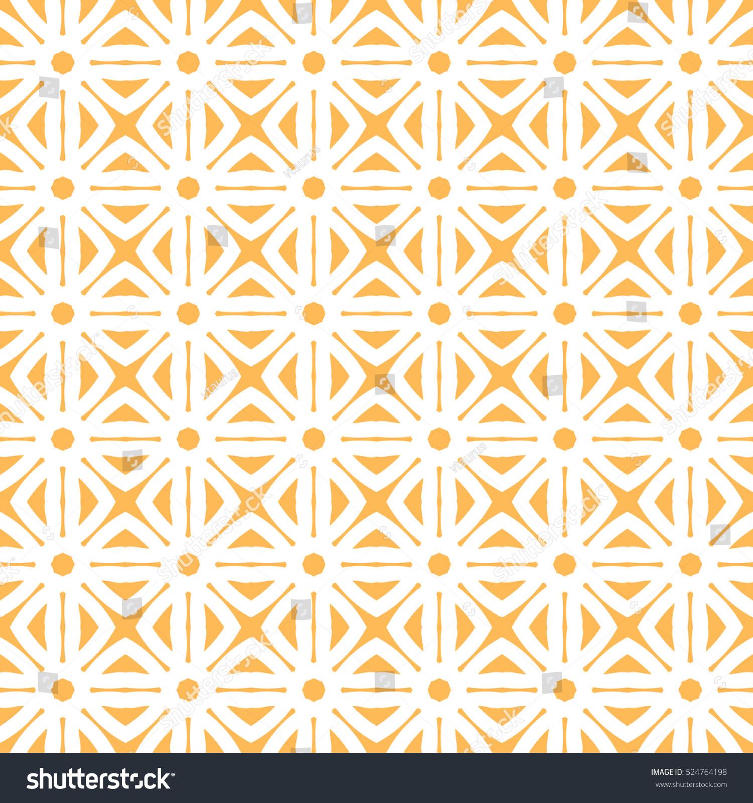 Geometric Trellis Pattern Yellow White Seamless 524764198