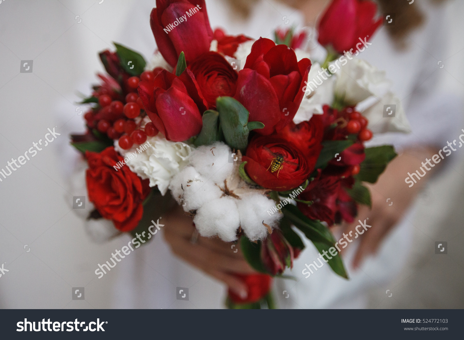 Wedding Bouquet The Brides Bouquet Bouquet Of Red And Pink