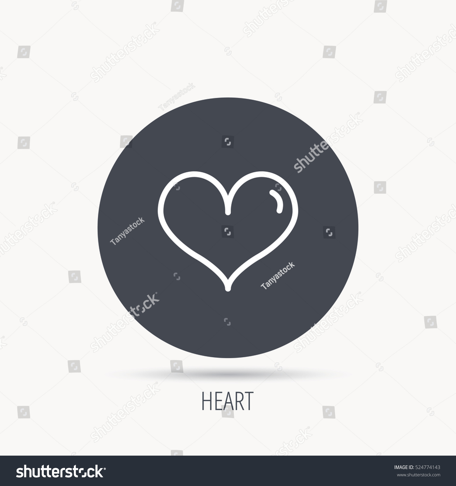 Heart Icon Love Sign Life Symbol Stock Vector 524774143 Shutterstock