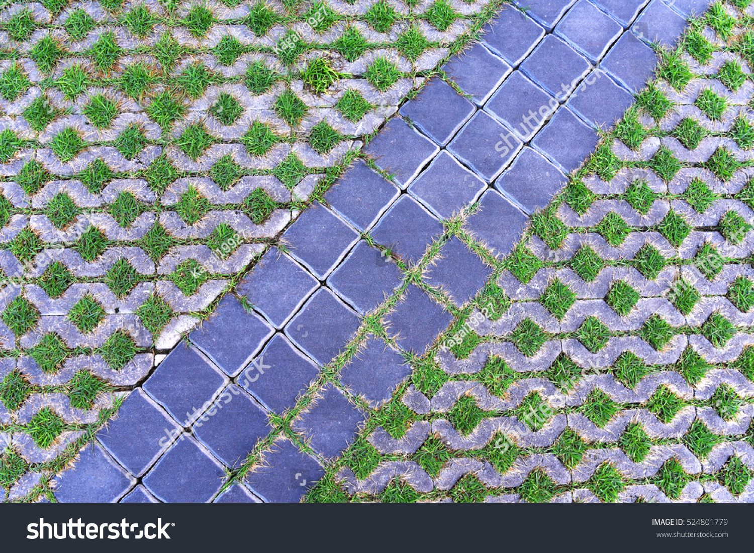 Pattern Square Cement Floor Tiles Green Stock Photo Edit Now