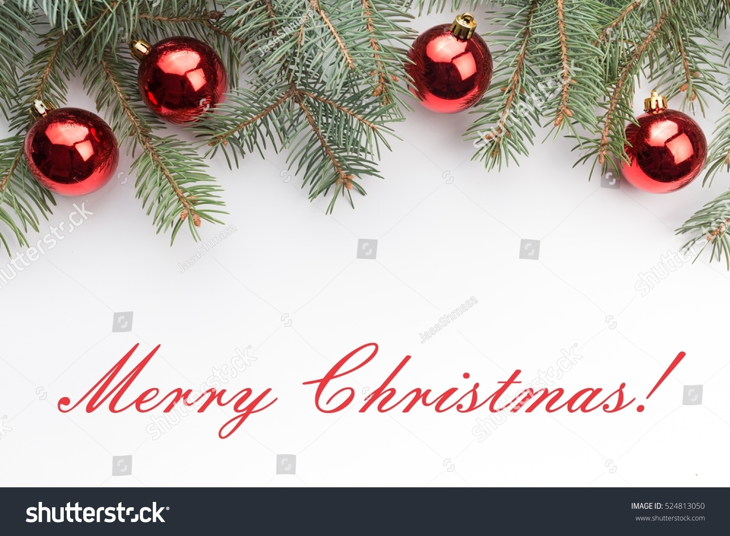 Christmas Decoration Background Message Merry Christmas Stock Photo ...