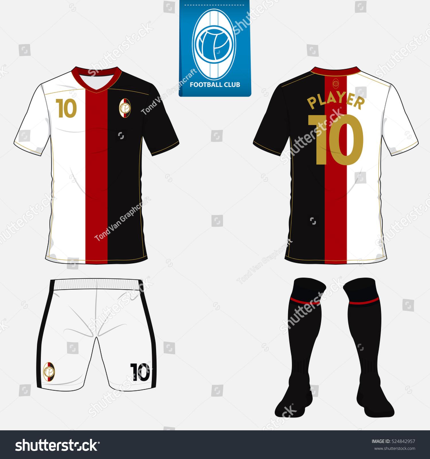 Set Soccer Football Kit Template Sport Stock-vektorgrafik 524842957 ...