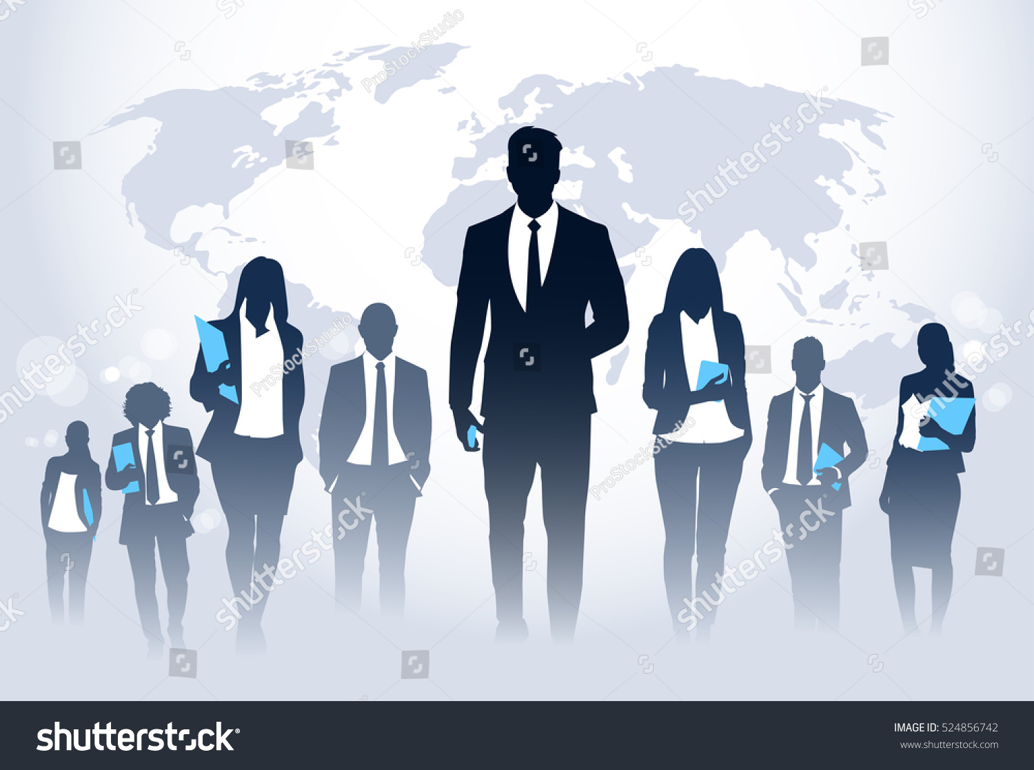 Business People Team Crowd Walk Silhouette Stock Vector 524856742 ... for Business People Silhouette Png  54lyp