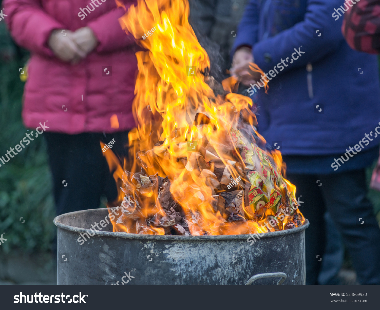 Royalty Free The Tradition Of Burning Paper Money 524869930 Stock