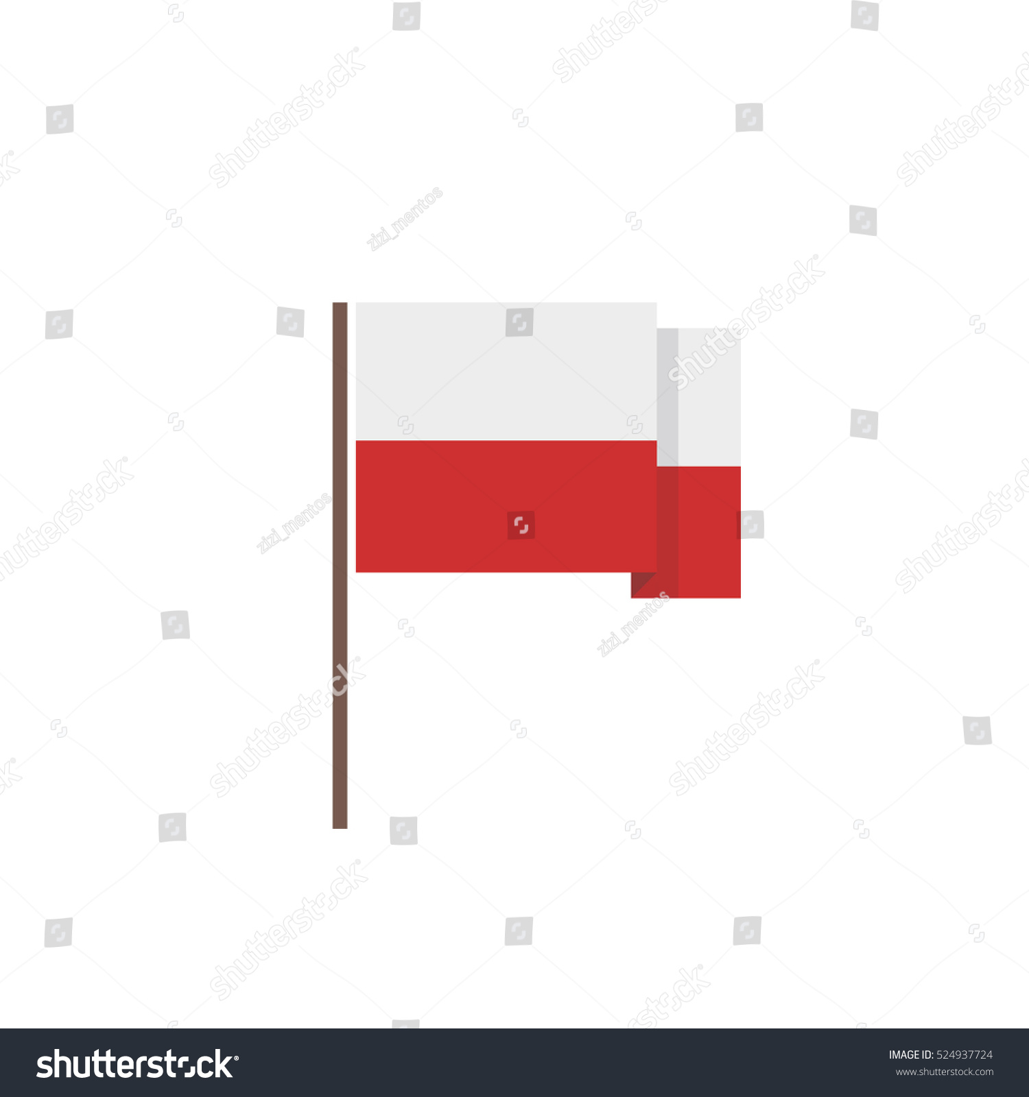 flag poland icon vector illustration stock vector 524937724