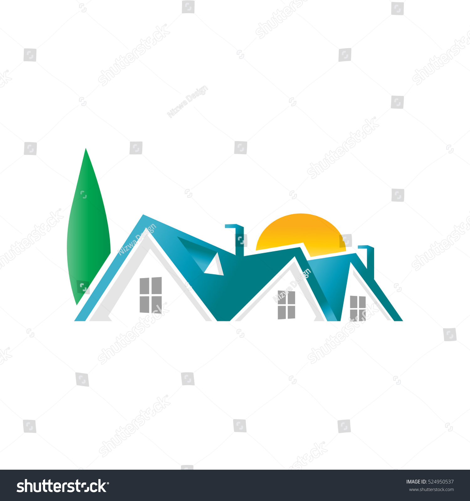 Nature apartment logo design template stock vector for Apartment design vector