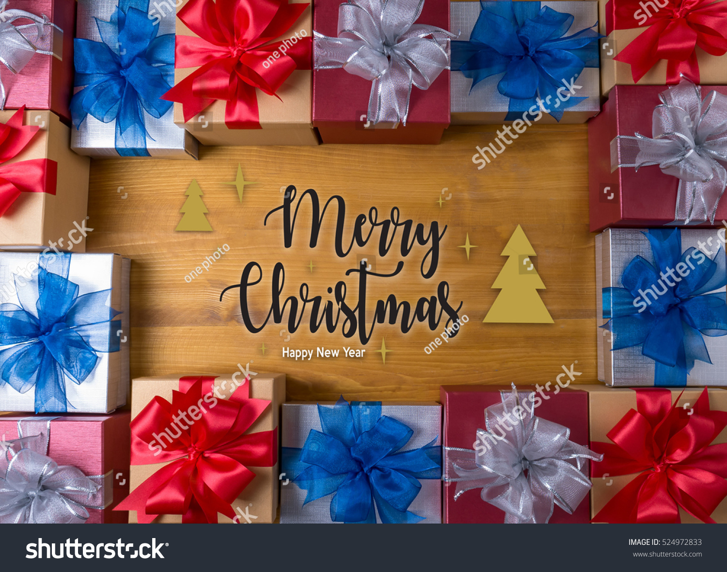 BOX gift and small gift wrapped , presents and Christmas , gifts in ...