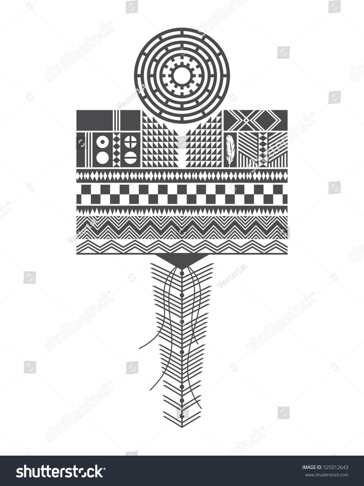 Native American Pattern Cherokee Navajo Apache Stock