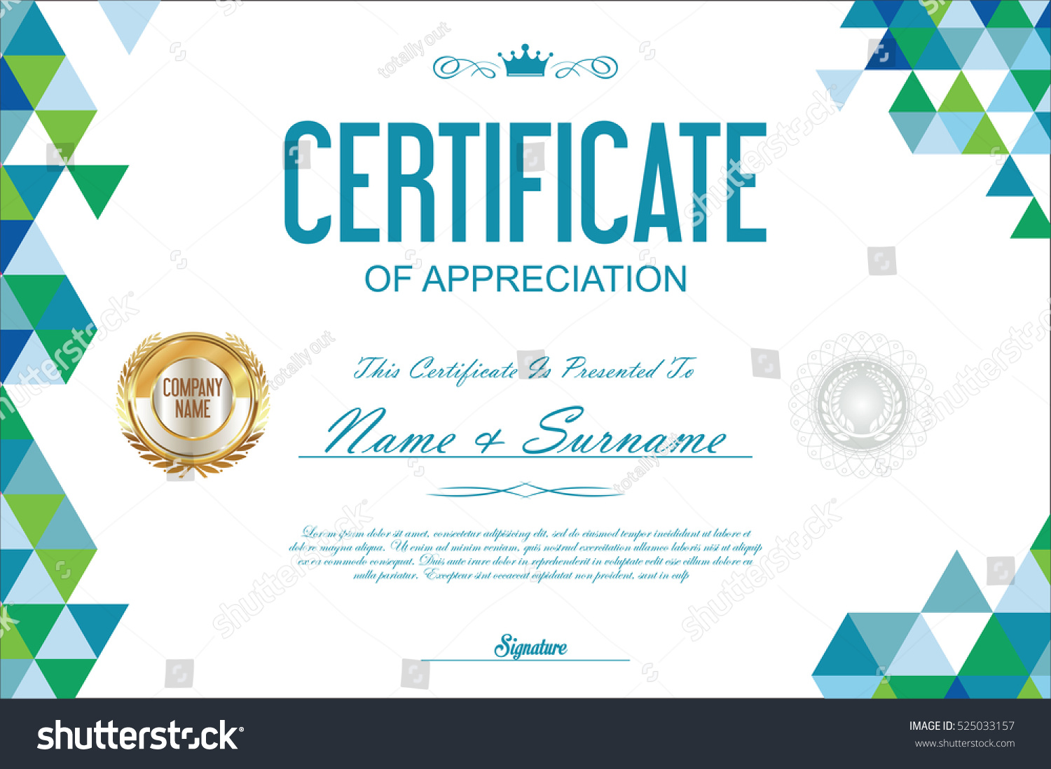 Certificate Template Abstract Geometric Design Background Stock ...