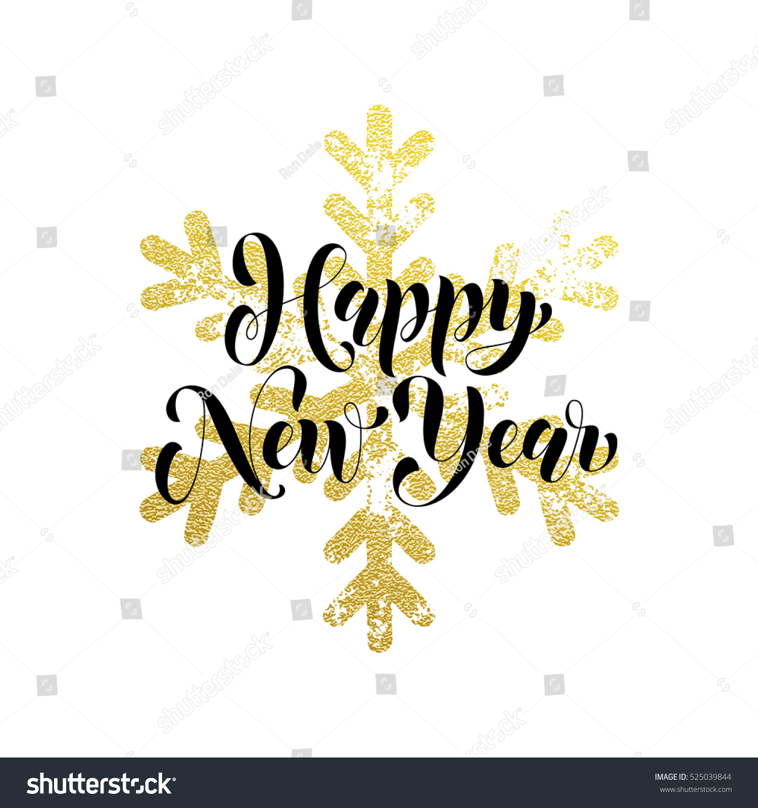Vector Greeting Happy New Year Winter Stock Vector Royalty Free