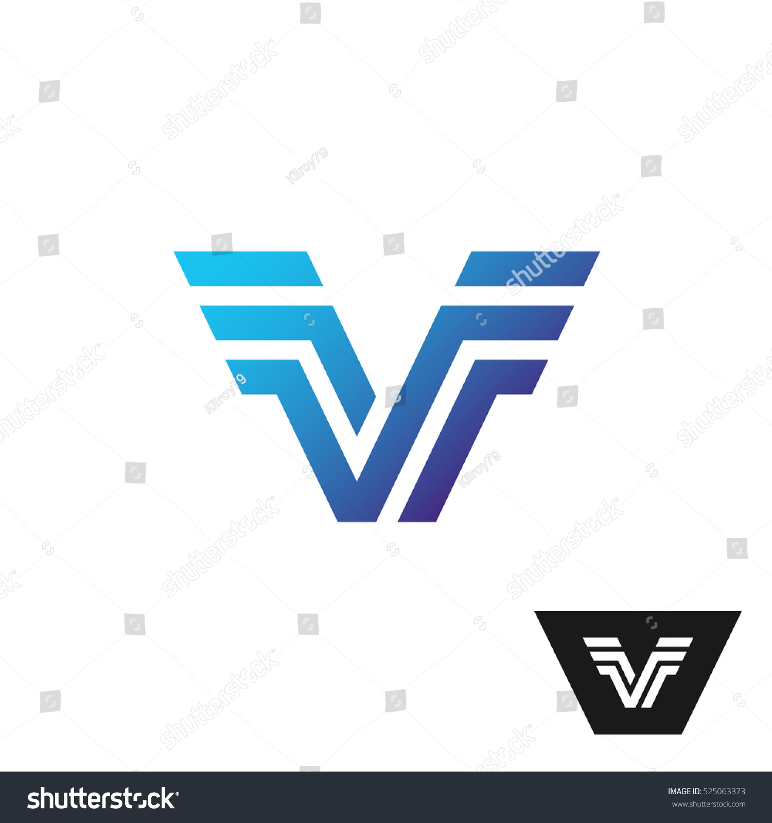 Letter v logo wings sides technical stock vector 525063373 letter v logo with wings at sides technical style parallel lines symbol buycottarizona