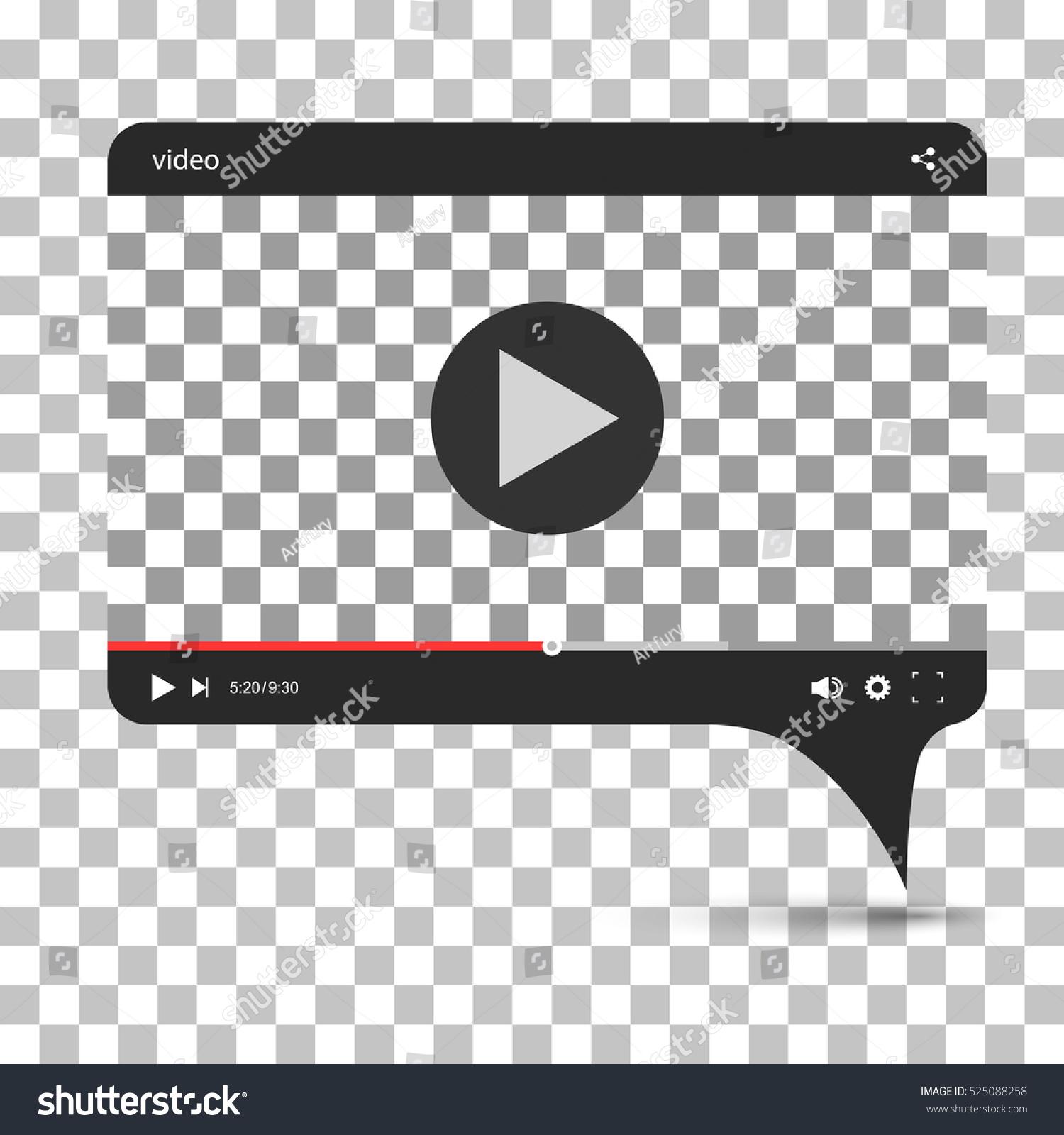 Chat Video Frame Video Player Web Stock-Vektorgrafik (Lizenzfrei ...