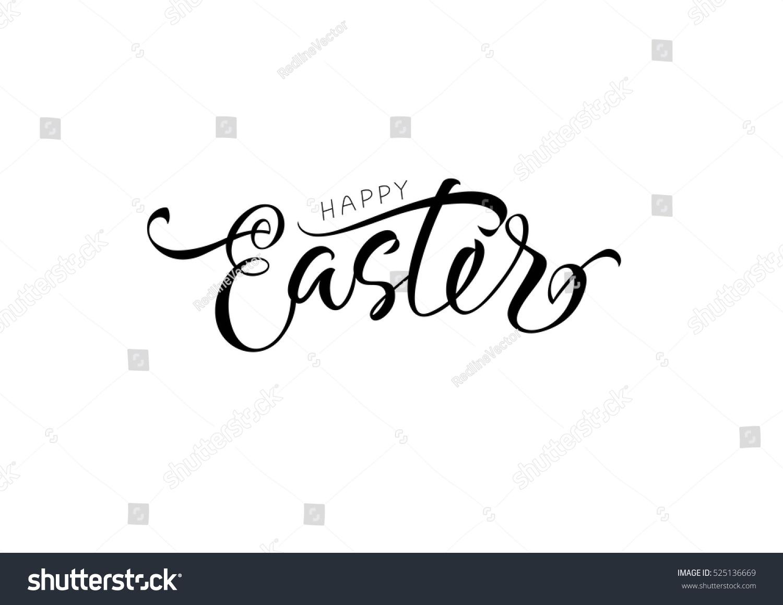 Happy easter lettering stock vector shutterstock