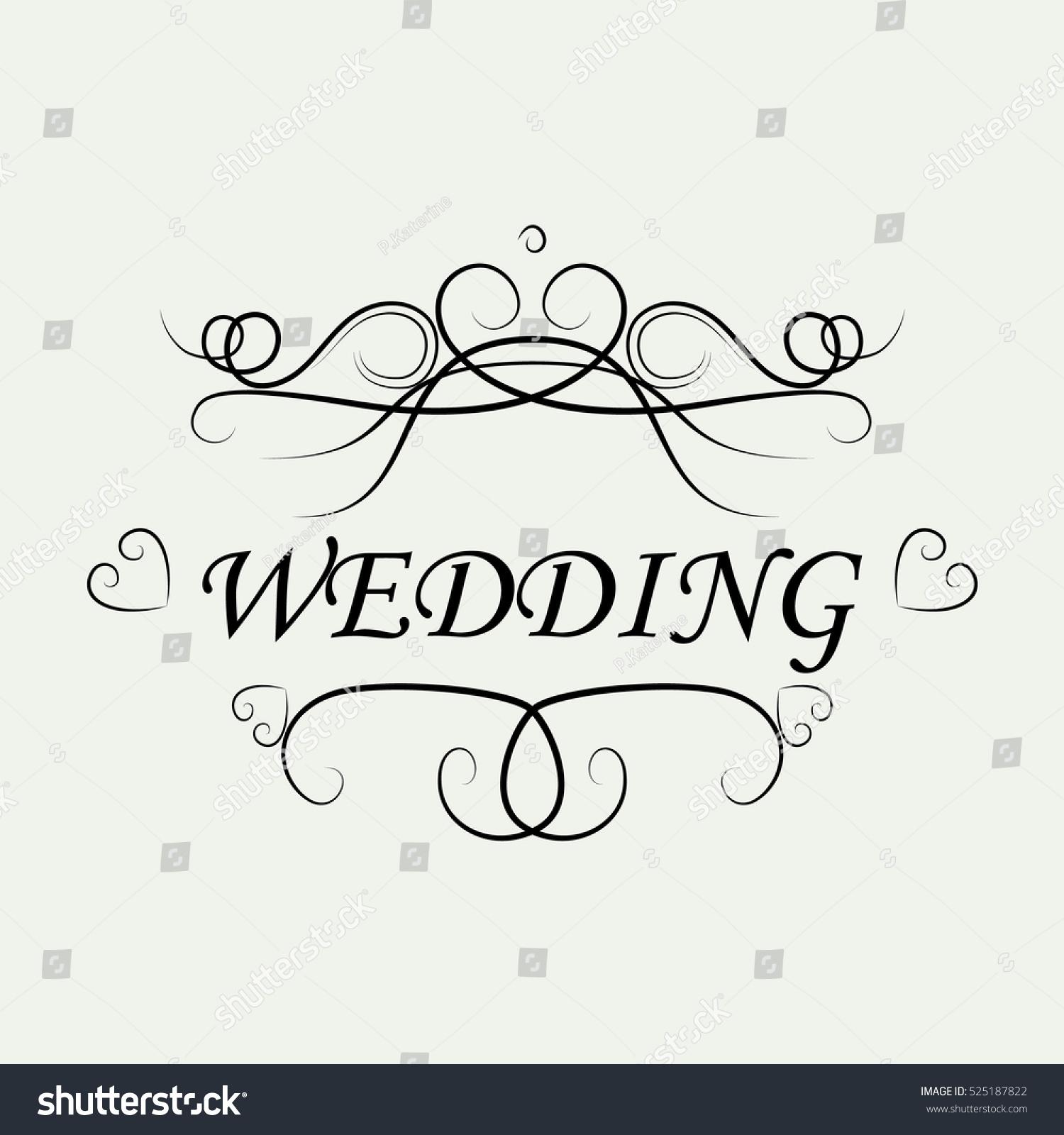 Wedding invitation card ornamental decorative elementsvector stock wedding invitation card ornamental decorative elementsctor illustrationntage and filigree decoration junglespirit Image collections