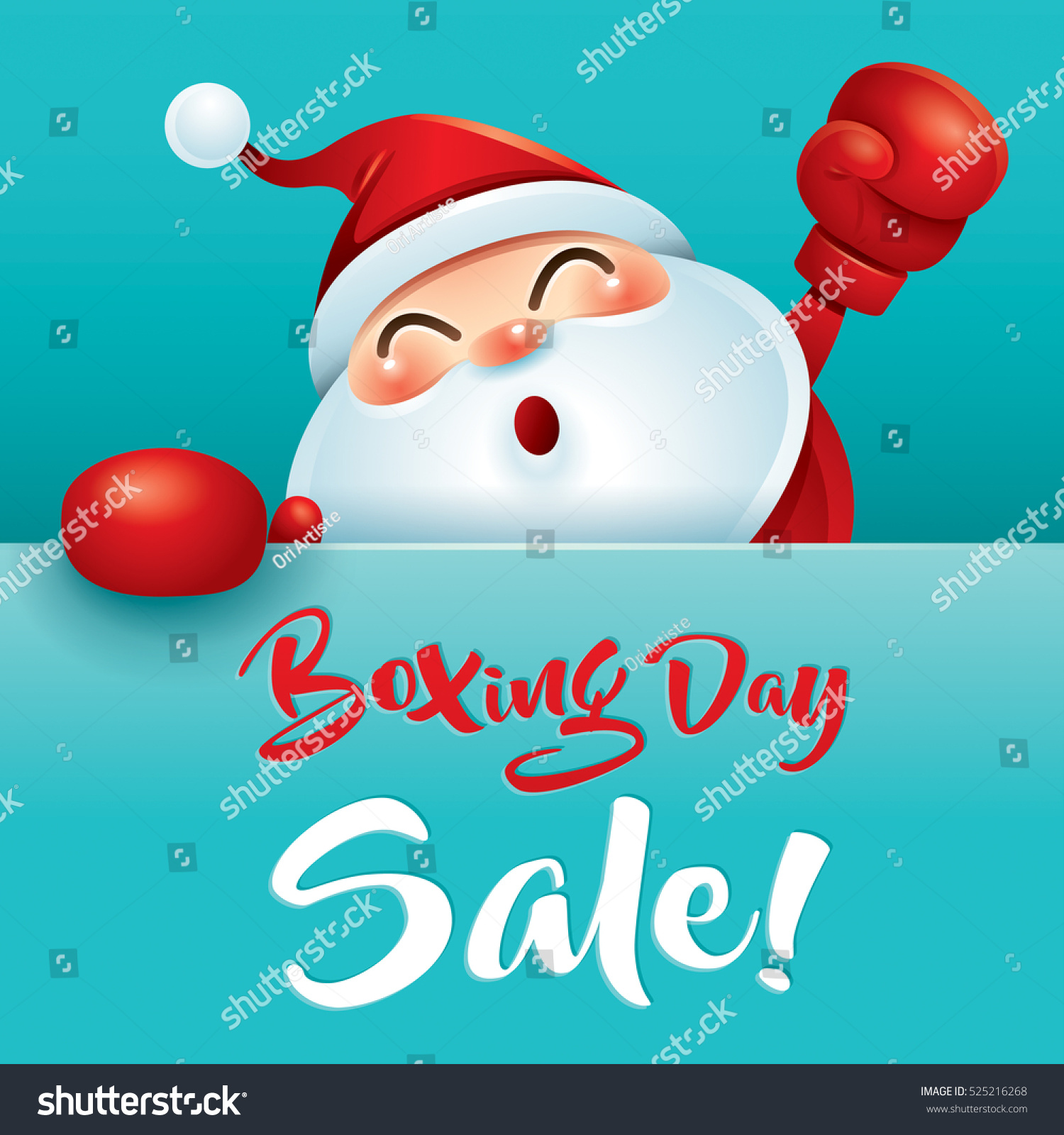 Boxing Day Sale Santa Claus Red Stock Vector 525216268 ... Boxing Day