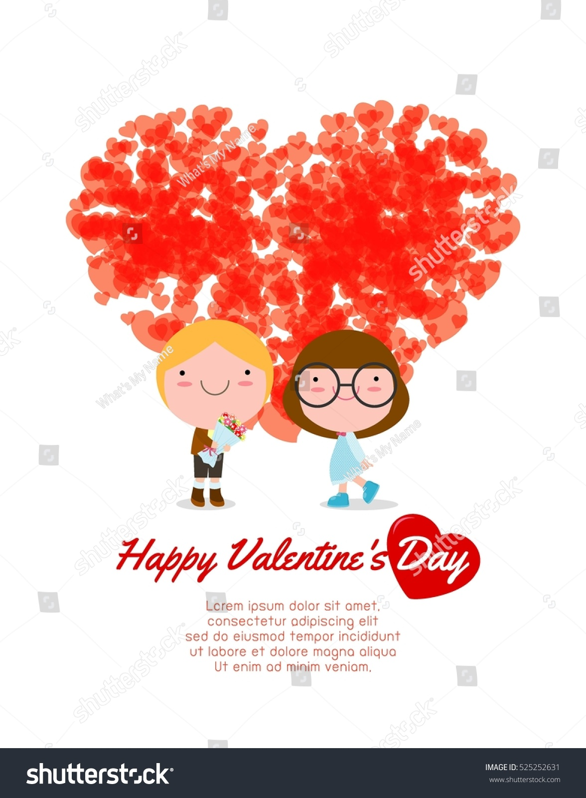 happy valentines day greeting card background stock vector 525252631 shutterstock