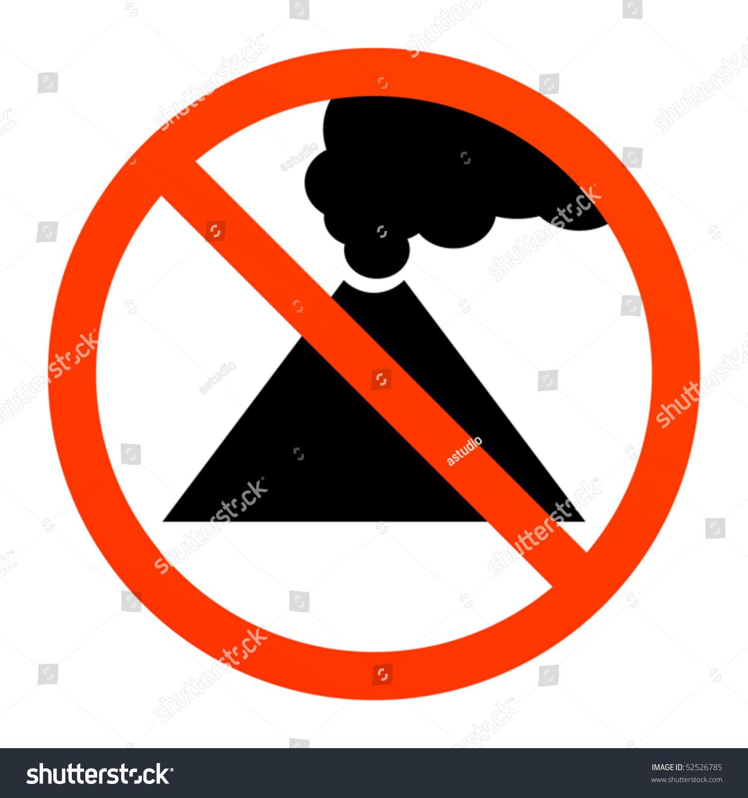 Volcano Symbol No Volcano Or Smoke Si...