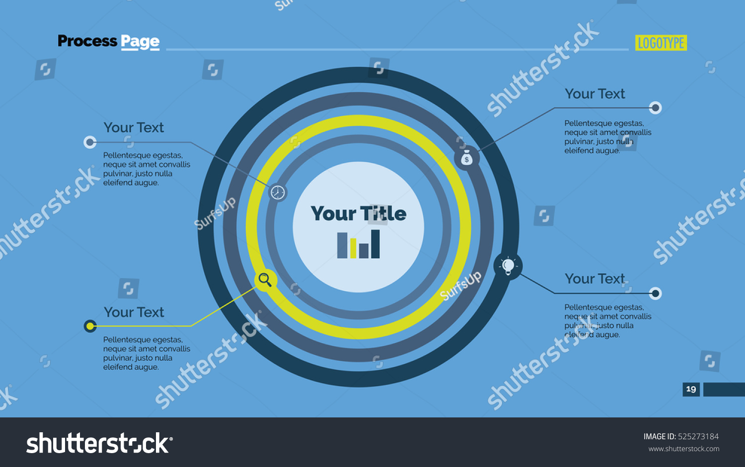 Concentric circles diagram slide template stock vector 525273184 concentric circles diagram slide template pooptronica Choice Image
